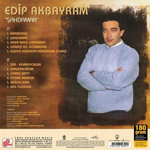Satılık Plak Edip Akbayram Şahdamar Plak Arka