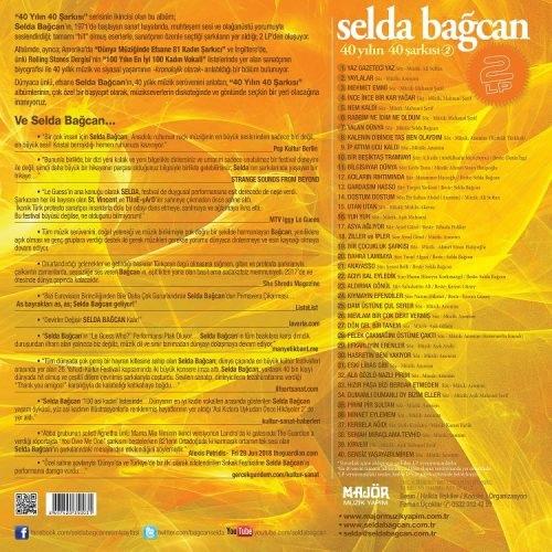 Satılık Plak Selda Bağcan 40 Yılın Şarkıları 2 Plak Arka Kapak