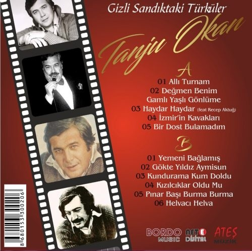 Satılık Plak Tanju Okan Gizli Sandıktaki Türküler Plak Arka