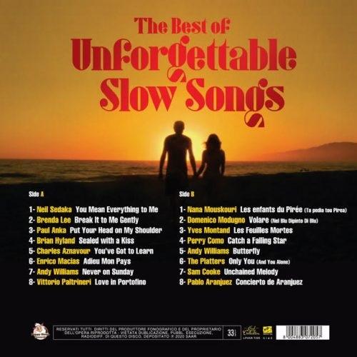 Satılık Plak The Best Of Unforgettable Slow Songs Plak Arka Kapak
