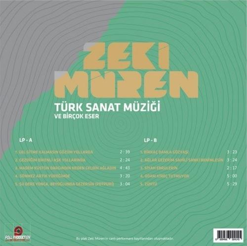 Satılık Plak Zeki Müren Türk Sanat Müziği ve Birçok Eser Plak Arka Kapak