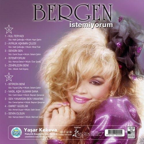 Satılık Plak Bergen İstemiyorum Plak Arka Kapak